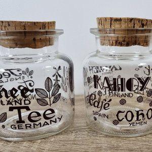 Vintage MCM Tea Coffee Jars Kitchen Canisters